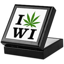I Love Cannabis Wisconsin Keepsake Box
