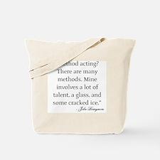 On Method Acting Tote Bag