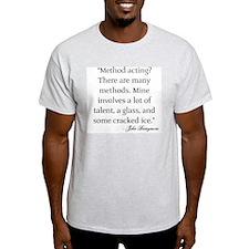 On Method Acting Ash Grey T-Shirt