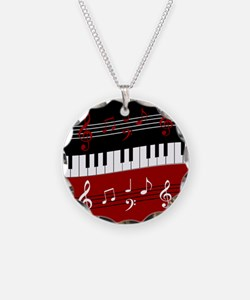 Stylish Piano keys and music Necklace