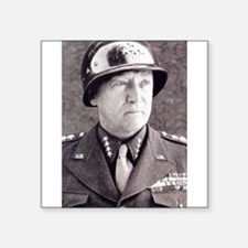 "General GS Patton Square Sticker 3"" x 3"""