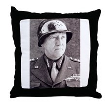 General GS Patton Throw Pillow