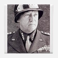 General GS Patton Tile Coaster