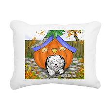 Pumpkin House Rectangular Canvas Pillow
