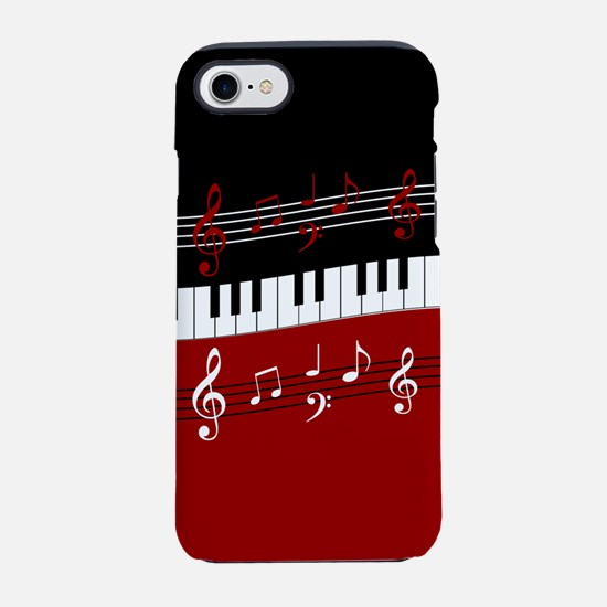 Stylish Piano keys and musical iPhone 7 Tough Case