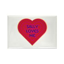 Sally Loves Me Rectangle Magnet (100 pack)