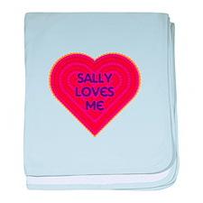 Sally Loves Me baby blanket