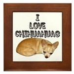 Chihuahua Kiki Framed Tile