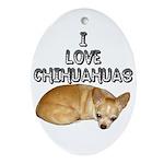 Chihuahua Kiki Ornament (Oval)
