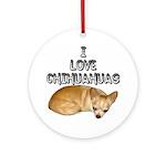 Chihuahua Kiki Ornament (Round)