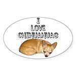 Chihuahua Kiki Sticker (Oval)