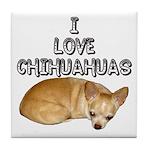 Chihuahua Kiki Tile Coaster