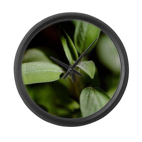 Sage (Salvia officinalis) - Large Wall Clock