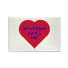 Savannah Loves Me Rectangle Magnet (100 pack)