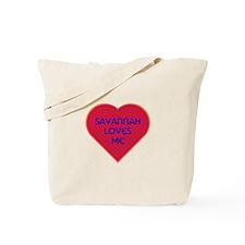 Savannah Loves Me Tote Bag