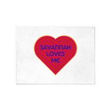 Savannah Loves Me 5'x7'Area Rug