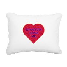 Savannah Loves Me Rectangular Canvas Pillow