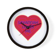 Savannah Loves Me Wall Clock