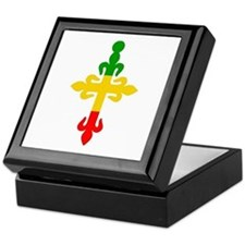 Ethiopian Cross Keepsake Box