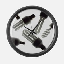 Energy-saving light bulbs - Large Wall Clock
