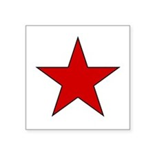Red Star Oval Sticker