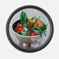 Fruit and vegetables - Large Wall Clock