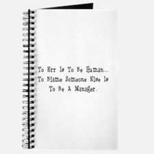 TO ERR IS TO BE HUMAN.... Journal