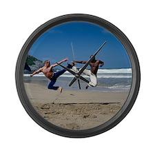 Capoeira - Large Wall Clock