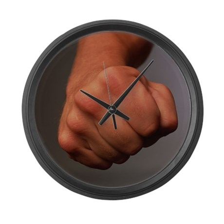 Clenched fist - Large Wall Clock