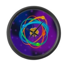 Atomic structure - Large Wall Clock