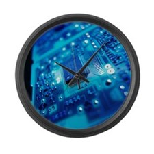 Computer circuit board - Large Wall Clock