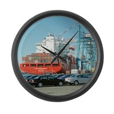 Container ship - Large Wall Clock