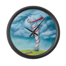 Tornado dynamics, artwork - Large Wall Clock