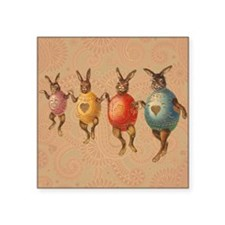 Vintage easter bunnies in egg costumes Sticker