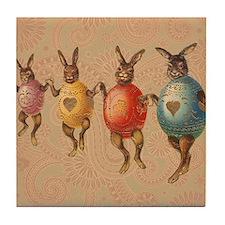Vintage easter bunnies in egg costumes Tile Coaste