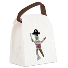 Pirate Robot Canvas Lunch Bag