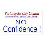 NO Confidence Rectangle Sticker
