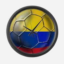 Colombia Soccer Ball Large Wall Clock