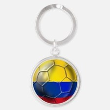 Colombia Soccer Ball Round Keychain
