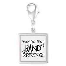 Worlds Best Band Director Silver Square Charm