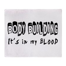 Body building Designs Throw Blanket