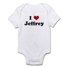 I Love Jeffrey Infant Bodysuit