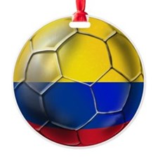 Colombia Soccer Ball Ornament