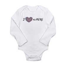 J'(aime) ma Mere Long Sleeve Infant Bodysuit