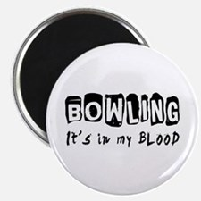 """Bowling Designs 2.25"""" Magnet (10 pack)"""