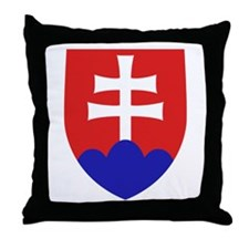 Slovakia Coat of Arms Throw Pillow