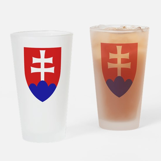 Slovakia Coat of Arms Drinking Glass