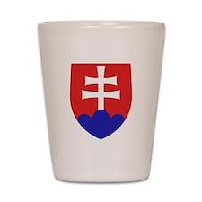 Slovakia Coat of Arms Shot Glass