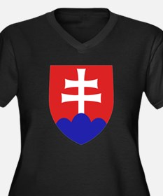 Slovakia Coat of Arms Plus Size T-Shirt