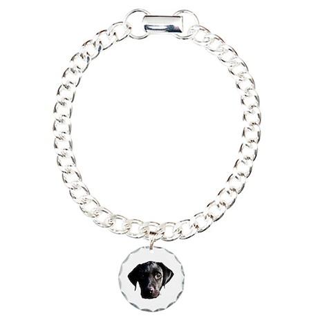 Black lab Charm Bracelet, One Charm